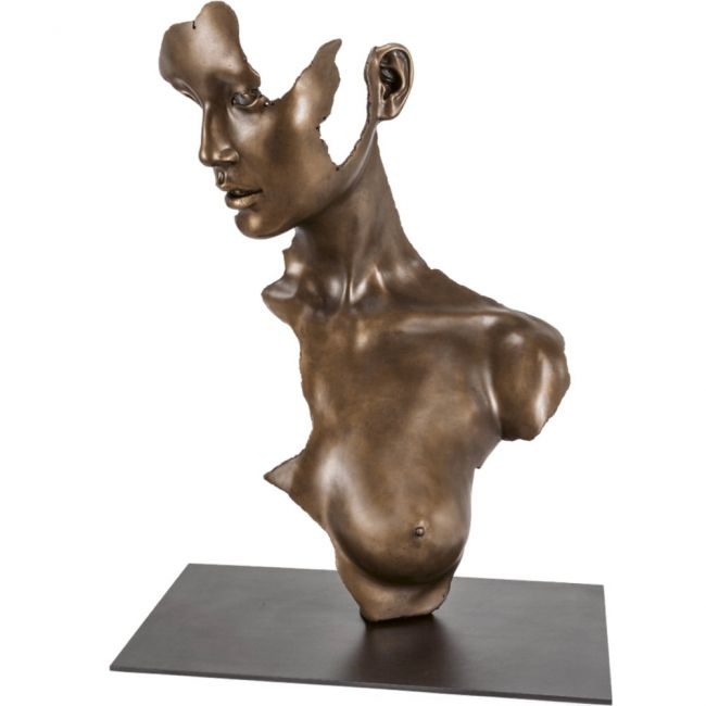 Skulptur »Fragmented Girl« von Jamie Salmon, Bronze