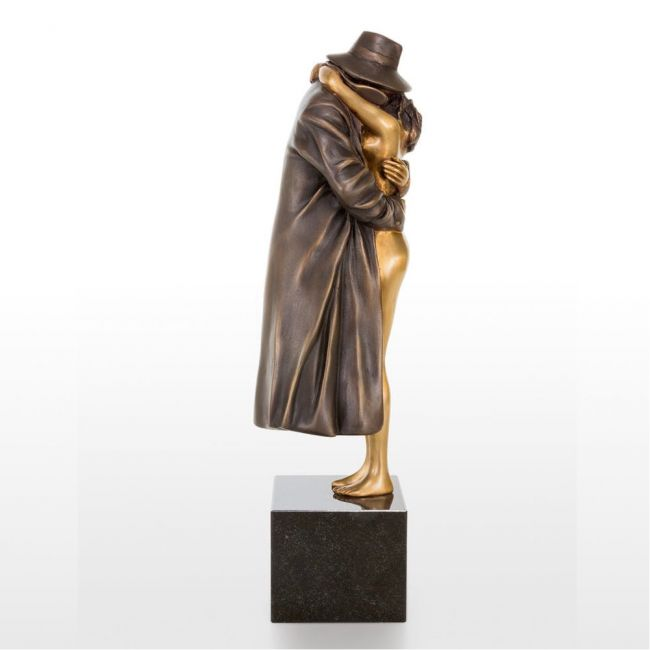 Bruno Bruni »The Kiss« Bronzeskulptur