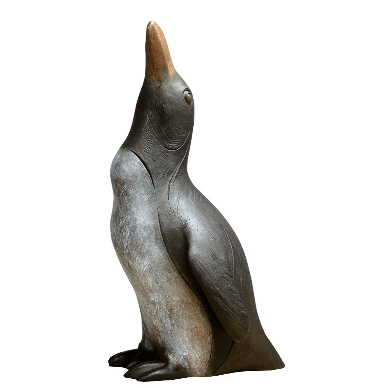 Gartenskulptur Pinguin Mit Hochgerecktem Kopf Bildhauerei Shop