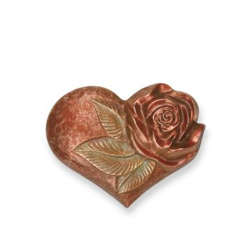 Ornament »Herz mit Rose«